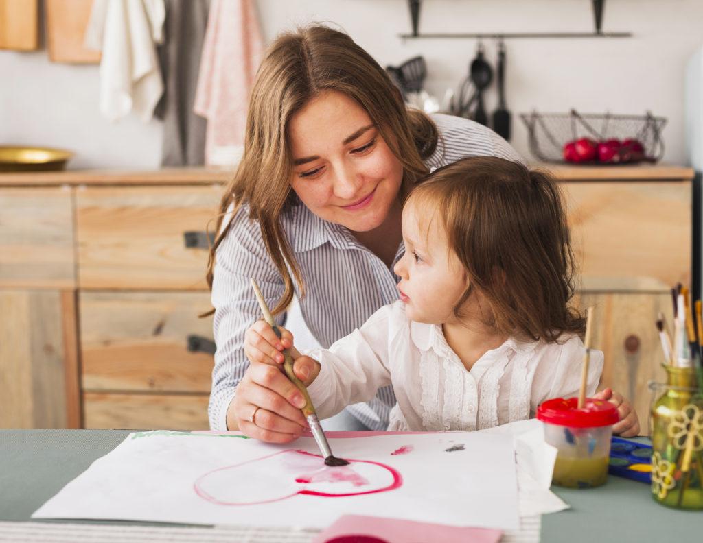 effektivität mutter und Familie und job unter einen Hut bringen